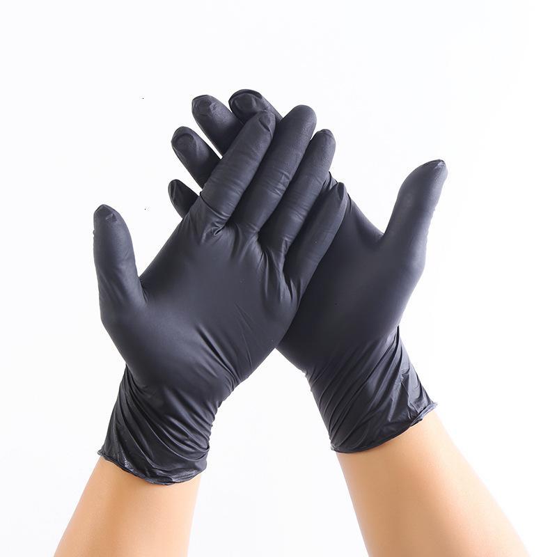 Envío de alta calidad Guantes de nitrilo negro Black Black Free Protective Nitril Gloves Industrialización Guantes de látex para hombres Mujeres