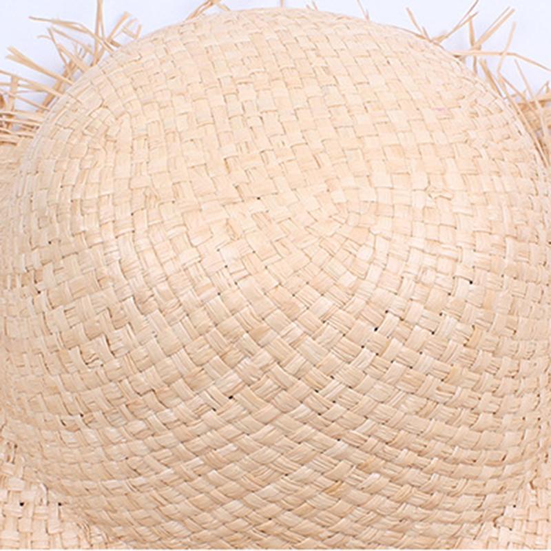 Viseira do chapéu de Sun com uma amadura das mulheres da borda do verão da praia das mulheres da rafície da rafícia Beach das mulheres da moda da fôrma de Gorra Hombre J0226