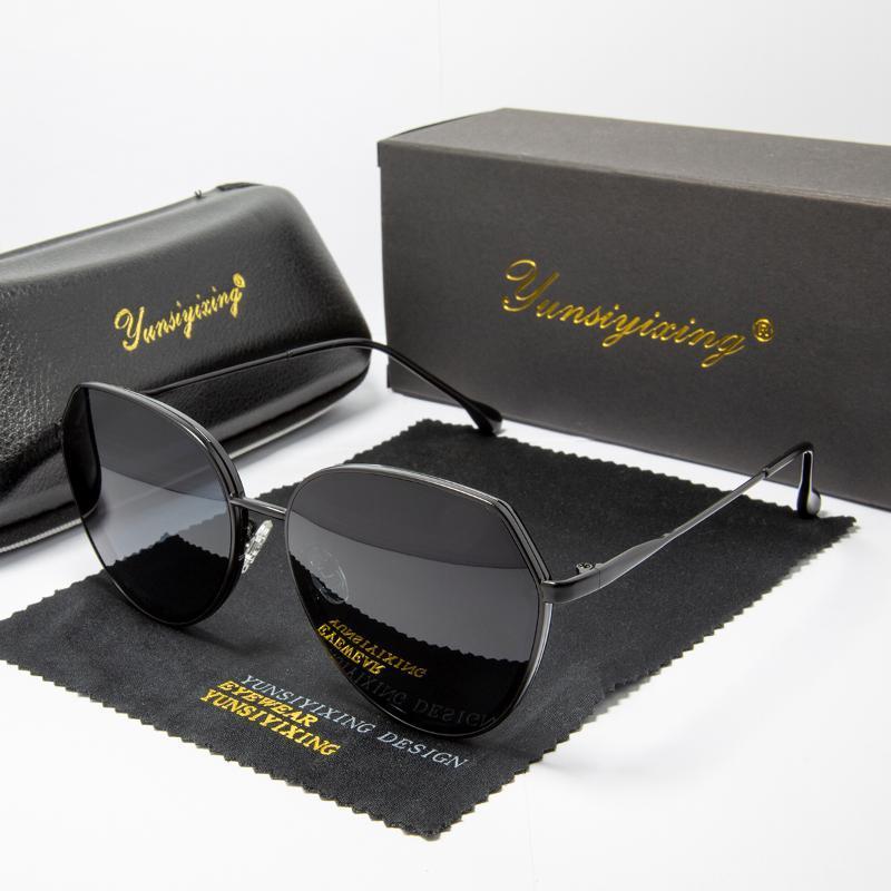 YUNSIYIXING Polarized Women Sunglasses Butterfly Fashion Brand Sun Glasses Luxury Coating Mirror Driving Eyewear For Women 2220