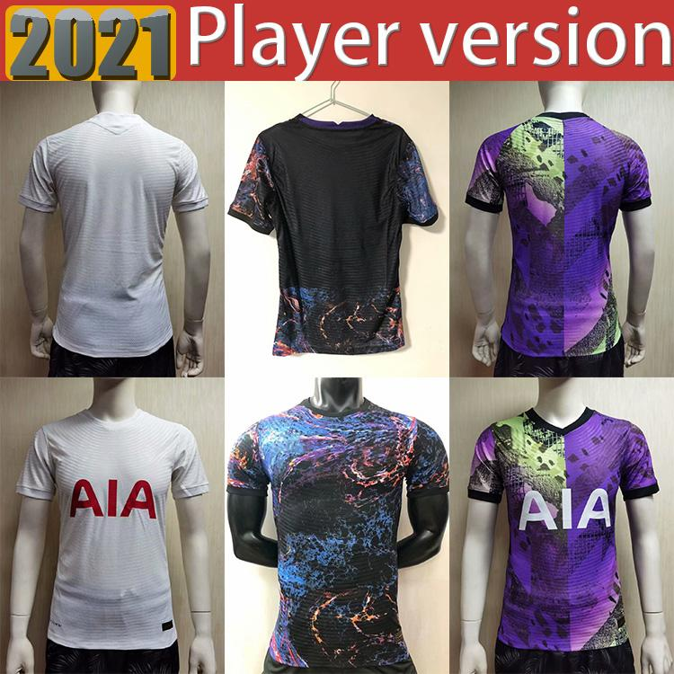 Tamaño: S-2XL 20 21 22 Kane hijo Bergwijn Jerseys Jerseys Player Versión Fans 2021 2022 Lucas Spurs Dele Tottenham Football Shirt Bale Ndombele Hombre Player Versión Uniformes