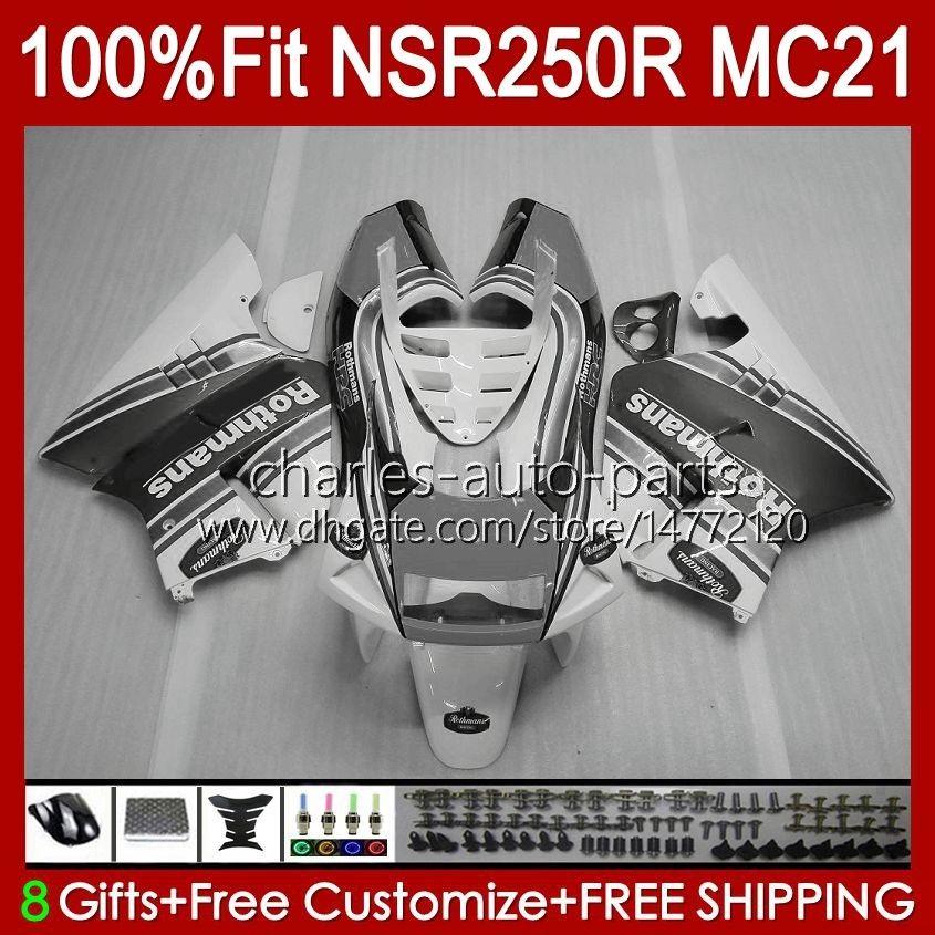 Injektion für Honda NSR 250R NSR250 Rothmans Grau NSR 250 R 90 91 1992 1993 103HC.134 NSR250R MC21 PGM3 NSR250RR 1990 1991 92 93 OEM-Verkleidung