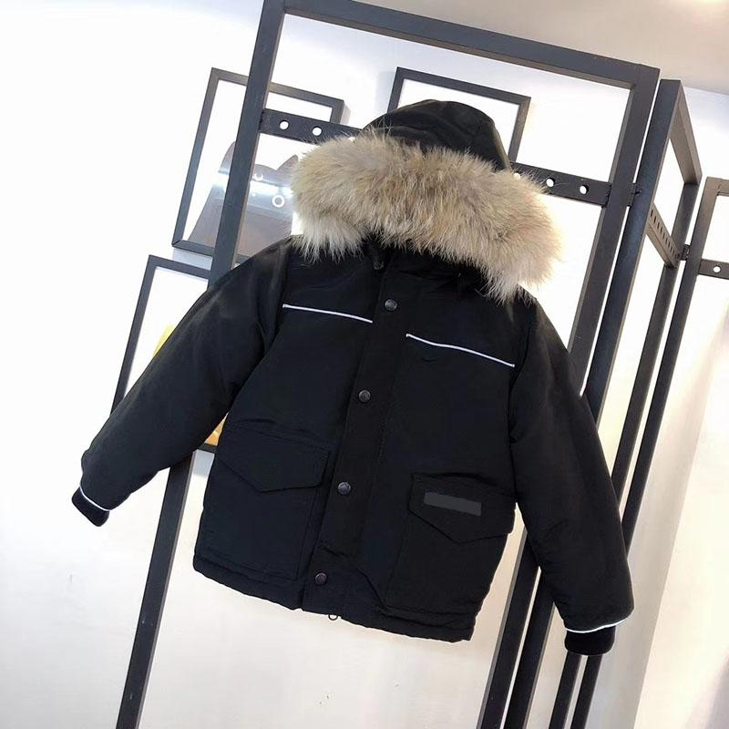 Kinder Daunenmantel Winter Jungen Mädchen Baby Oberbekleidung Jacken Teen Kleidung Mit Kapuze Dicke Warme Outwear Mäntel Kinder tragen Jacke Mode Classic Packas 5 Farben 100-150
