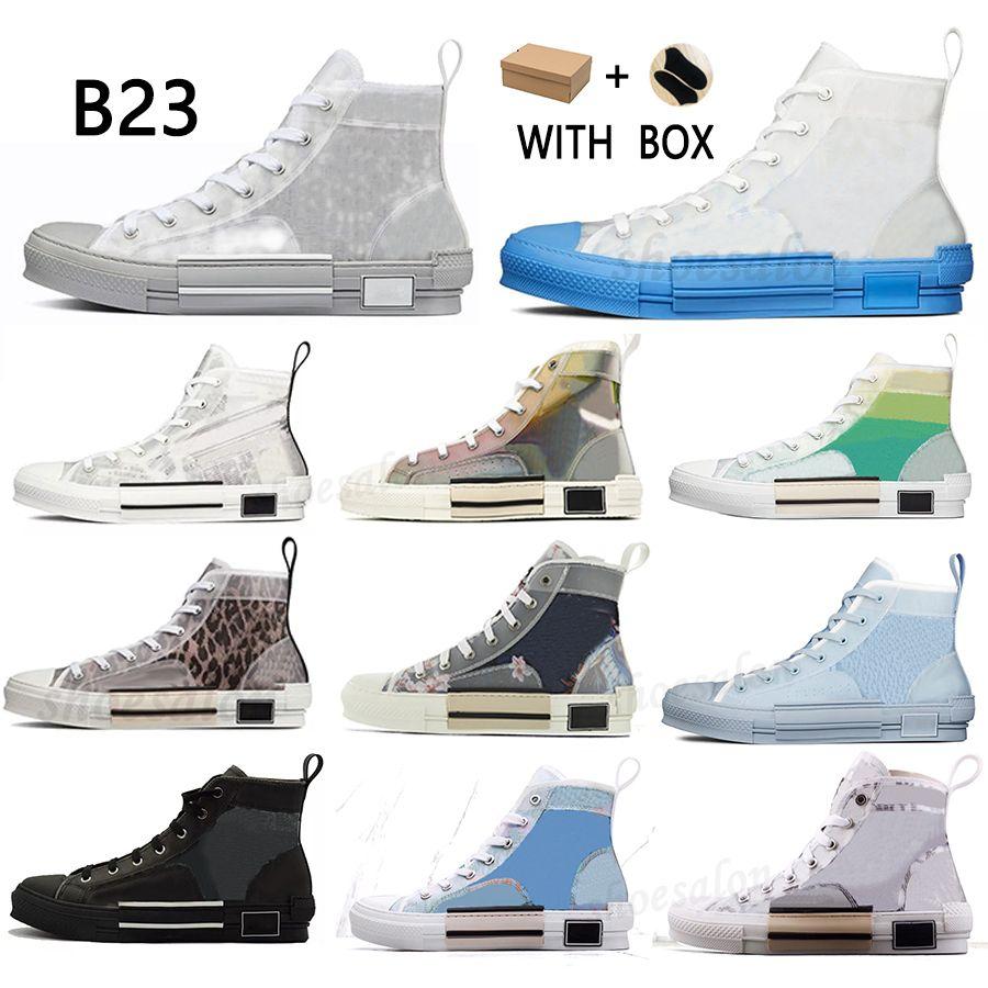 2021 B23 디자이너 운동화 비스듬한 캐주얼 신발 기술 가죽 높은 낮은 꽃 플랫폼 야외 빈티지 크기 36-45 #efgt