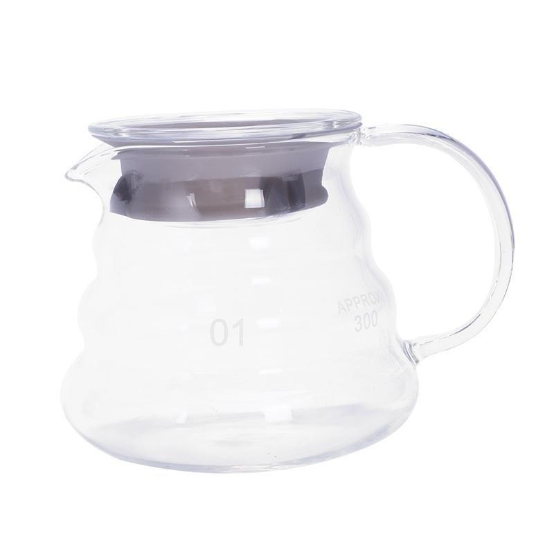 Kaffee töpfe v60 gießen über glasbereich server carafe tropft topf kochle brauen barista percolator clear 360ml