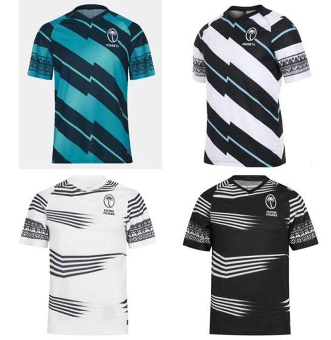 Fiji Home Away Rugby Jersey Seven Camisa Olímpica Tailândia Qualidade 21 22 Fiji National 7's Rugby Jersey S-3XL