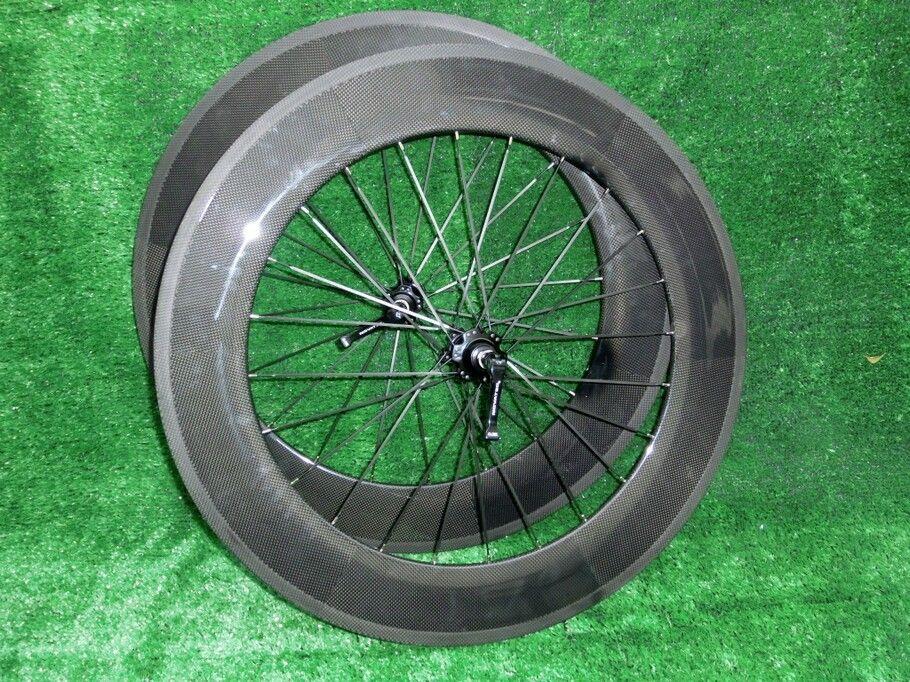 Vente chaude Carbon Crackcher WheelSet WheelSet FFWD Charbon Fibre Roues Vélo de route 60mm + 88mm Roues Carbon Clincher Powerway R36 Hub