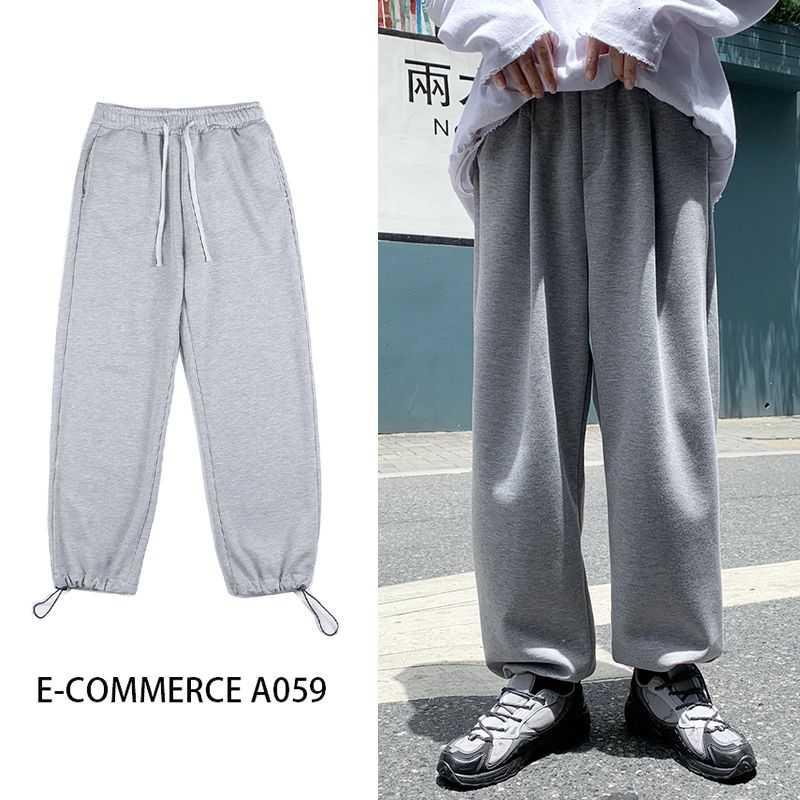 Bahar Sweatpants erkek Moda Rahat Joggers Pantolon Erkekler Streetwear Kore Gevşek Hip-Hop Düz-Bacak Pantolon Erkek Pantolon M-5XL