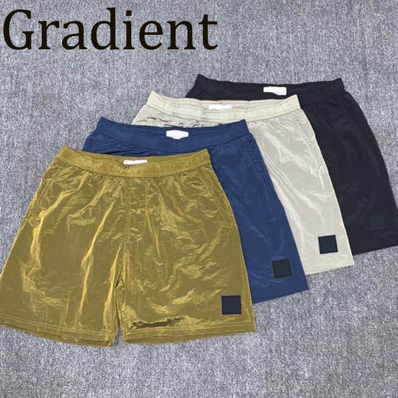 Erkekler Elastik Bel Şort Erkek Hafif Yaz Kısa Pantolon Erkek Hip Hop Nakış Pantolon Streetwear Gradyan Yüksek Kalite 2021 Ins Tarzı