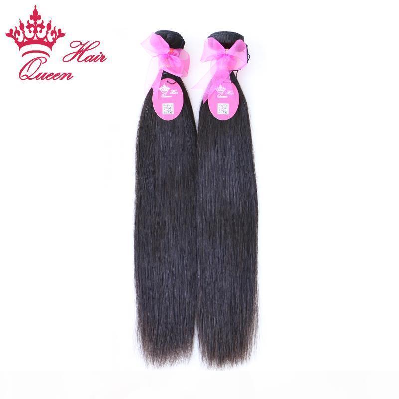 """Queen Hair 8 '' - 28 """"2 шт. Лот Девственница Бразильцы Натуральные прямые волосы Человеческие Волосы Плетение Оптом Путать Бесплатно Не пролить"""