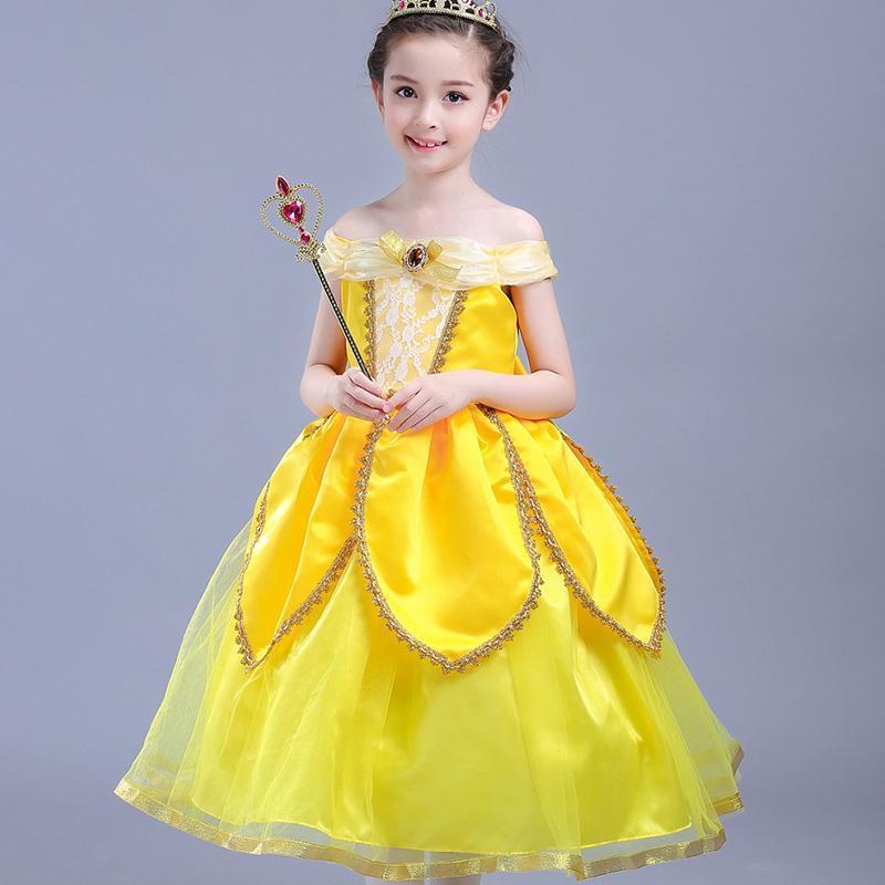 Vestidos menina 2021 meninas vestido verão sem mangas princesa para cosplay crianças roupas traje crianças roupas