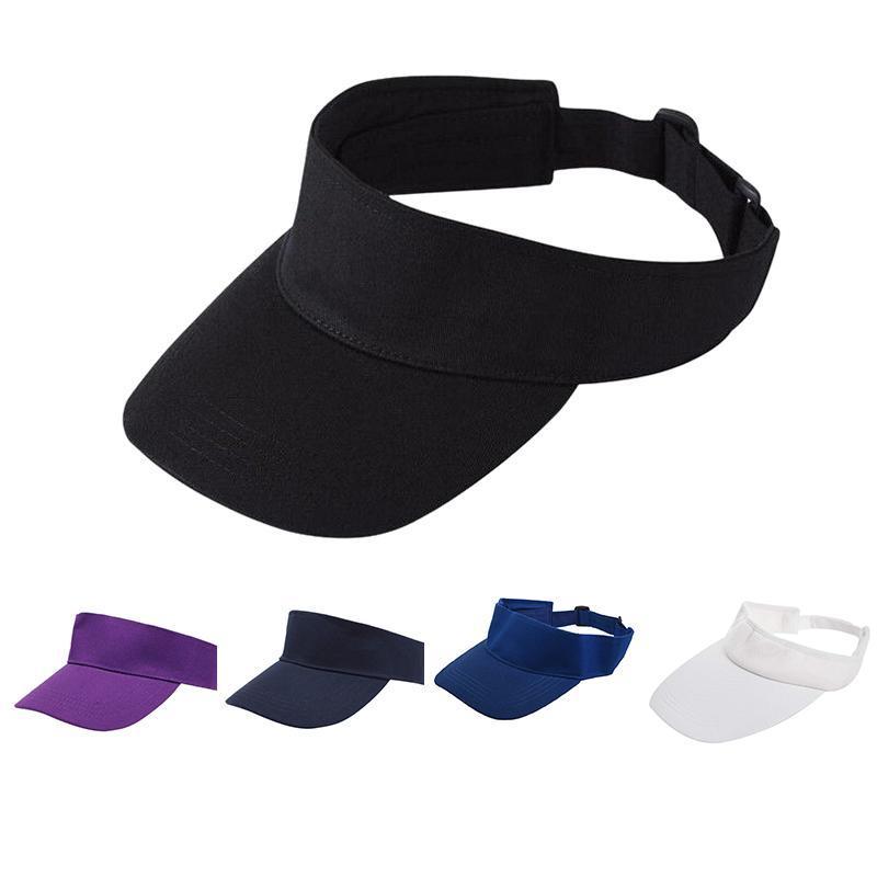 New Men Women Sun Visor Cotton Sports Golf Tennis Headband Adjustable Cap Hat, Blue