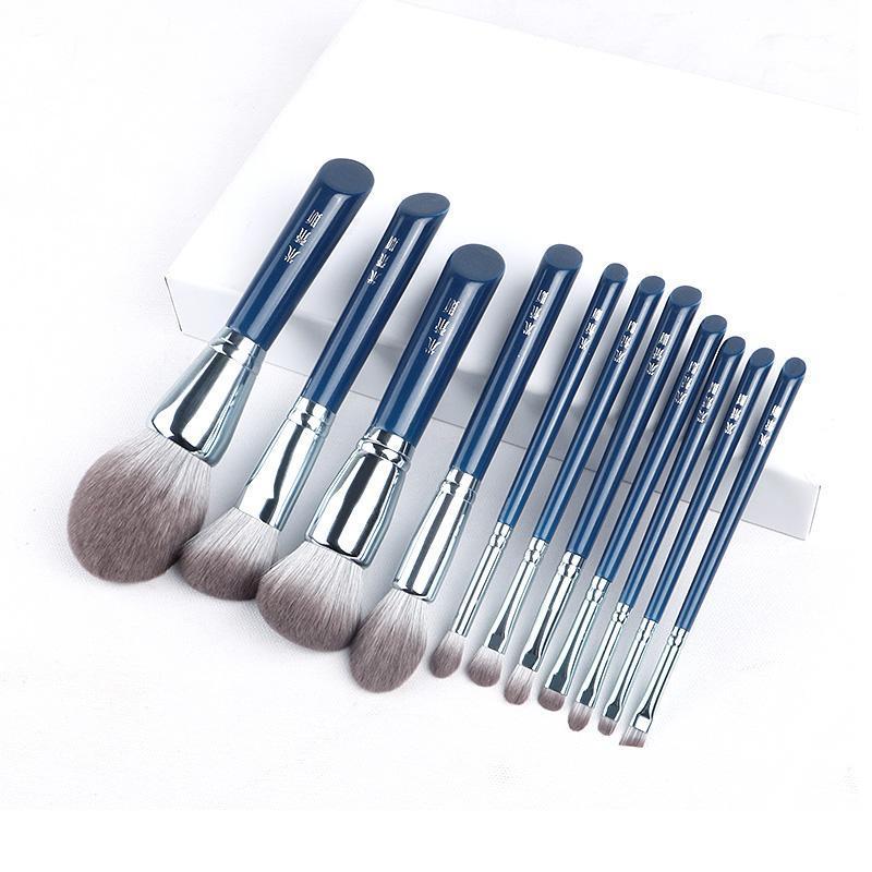 Makyaj Fırçaları 11 adet MyDestiny Fırça-Gökyüzü Mavi Süper Yumuşak Fiber Toz Allık Dudak Kaş Göz Farı Eyeliner Fırçası