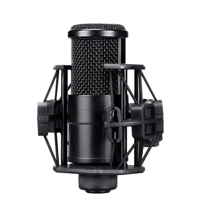 Micrófonos condensadores, equipo de tarjeta de sonido transmitido por computadora, micrófonos con cable, micrófonos condensadores para estudio