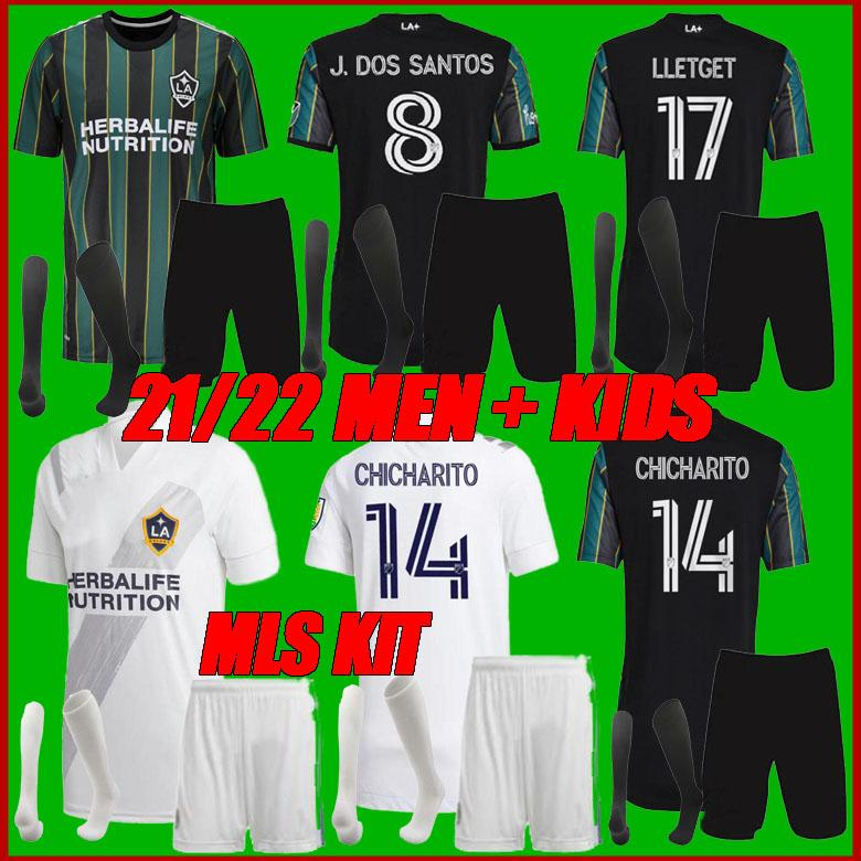 Erkekler + Çocuk Kiti 2021 Chicharito La Galaxy Futbol Formaları Los Angeles J.Dos Santos Kljestan 21 22 Yeni MLS Leticget Camisetas Futbol Gömlek
