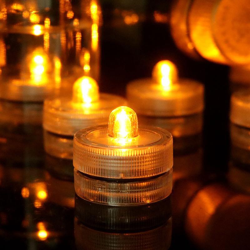 Unterwasserlichter LED Candle Lights Taucher Tee Licht Wasserdichte Kerze Unterwasser Tee Licht Unterlichter Batterie Wasserdichte Nachtlicht