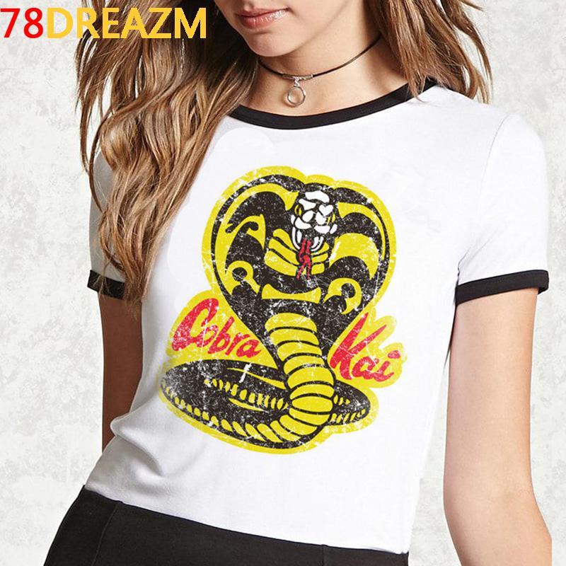 Hot Mens Karate T Shirt Kawaii Cartoon Cobra Kai Graphic Tees Men Summer Tops Cobra T-shirt Funny Fashion Unisex Tshirt Male L0223