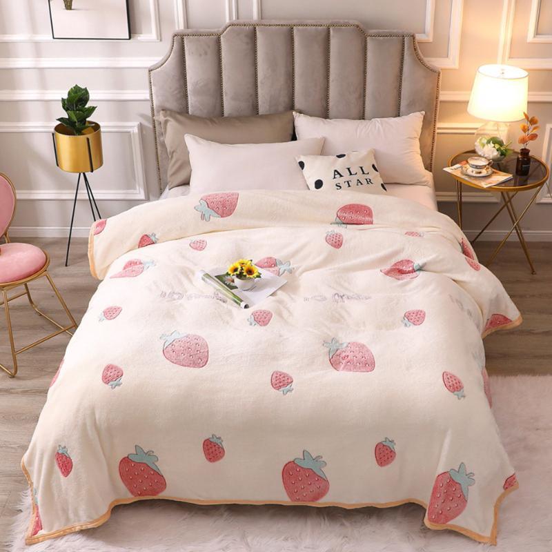Battaniyeler Polar Battaniye Süper Yumuşak Mikrofiber Yatak Flanel Için Sıcak Atmak Peluş Bedspread Mantas Çocuk Yatak