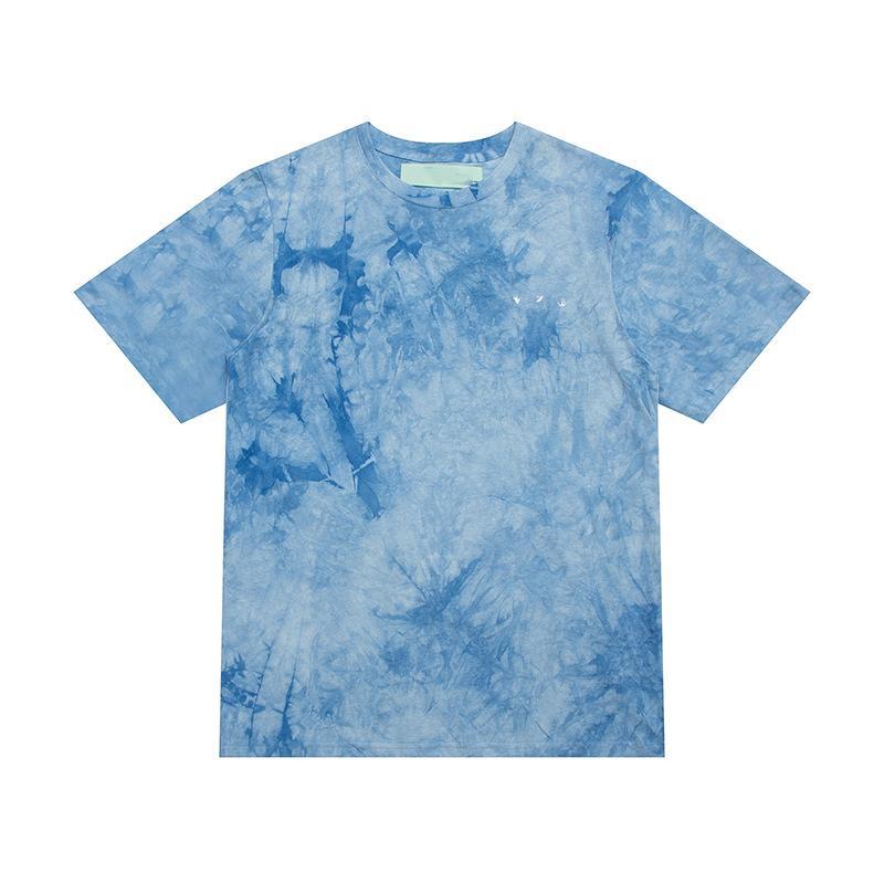 패션 디자이너 브랜드 프론트 수 놓은 뒷 화살표 그라디언트 렌더링 반팔 망 탑 티 티셔츠 캐주얼 티셔츠 x 인쇄 여름 탑스