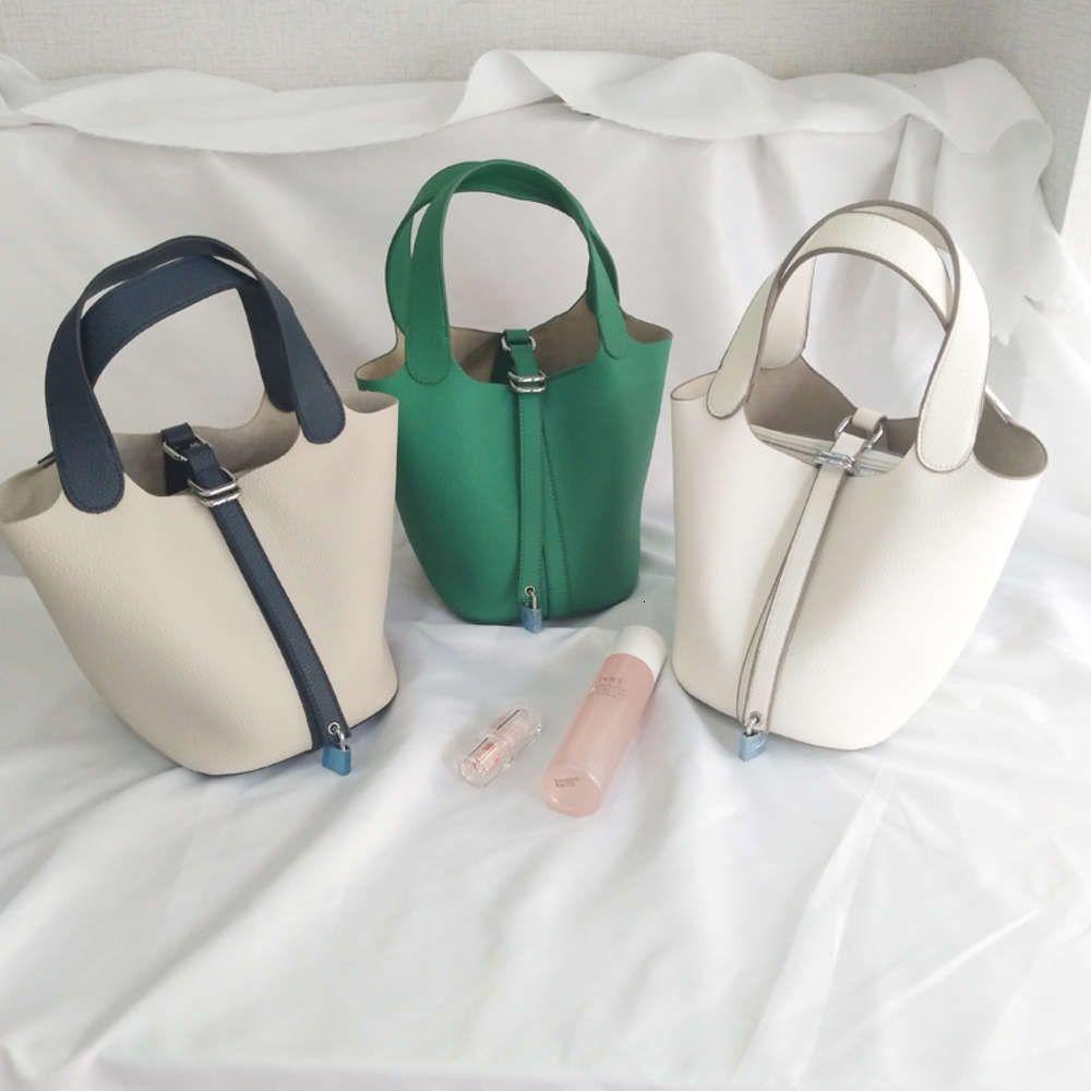 Bolso de la canasta de la comida de Corea del Sur 2021 Nuevo Versátil Bolso de la moda con la mano de la Madre y el Hijo Bag Color Matching Bag Bag Fashion