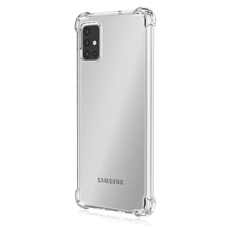 Transparente acrílico a prueba de golpes Hard PC Soft TPU Casos de teléfono transparentes para Samsung A01 Core A10 A10E A10S A11 A02S A20S A21 A21S A30 A20 Caja de celular reforzado A30 A20
