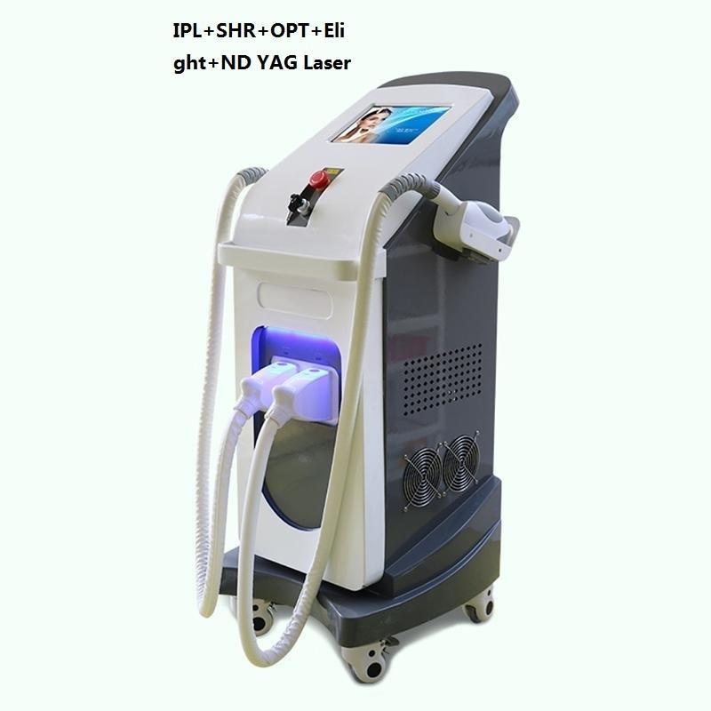 2021 Neueste Multifunktions 3 in 1 IPL Picoteech ND YAG IPL SHR Dauerhafte Frauen Haarentfernungsmaschine Tattoo-Entfernungsmaschine für Schönheitssalon