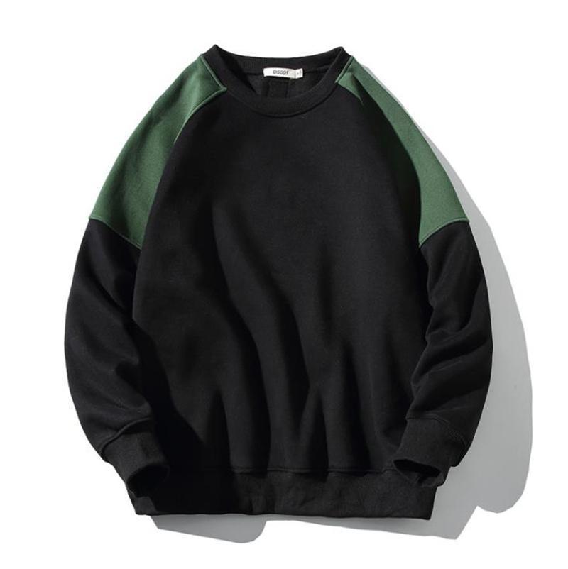 Sweat-shirt Hommes Casual Couleur Chaud patchwork Couleur Hommes Sweat à capuche Collier rond Épaissir Sweatshirts à manches longues
