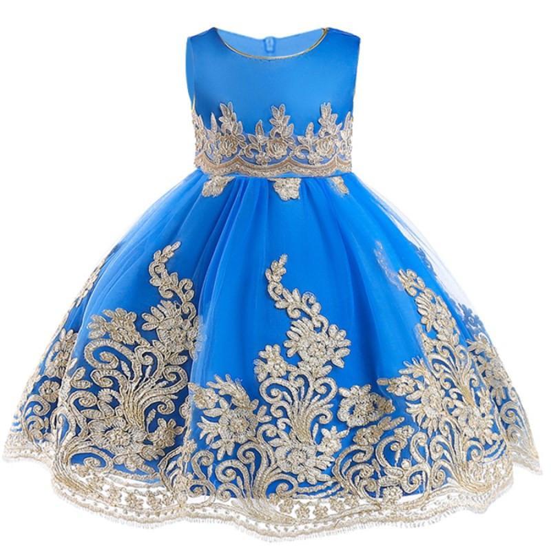 2021 Vestido de fiesta de verano Vestido Vestido Vestido de princesa Vestidos para niños Vestidos para niñas Vestido de novia para niños 3-10 años C0223