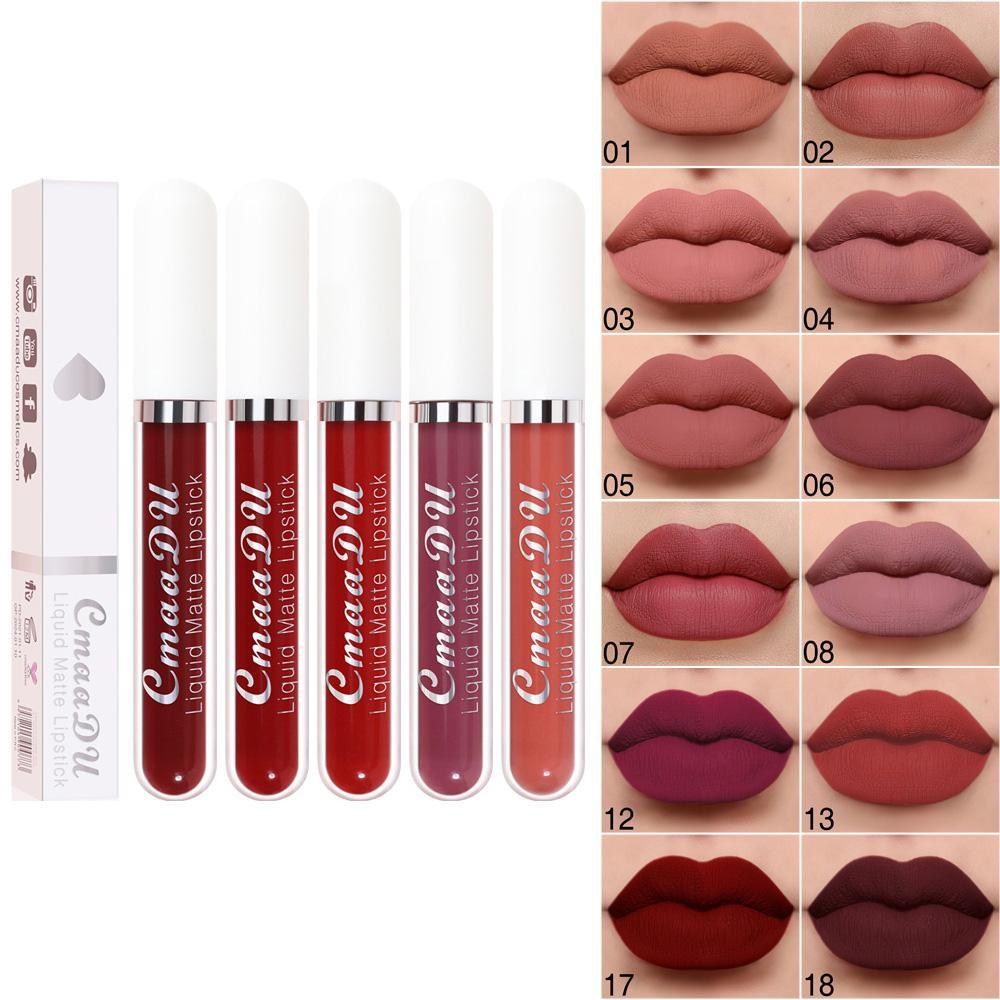 Cmaadu 18 Kleur opaco non-stick tazza waterdichte lippenstift langdurige lipgloss
