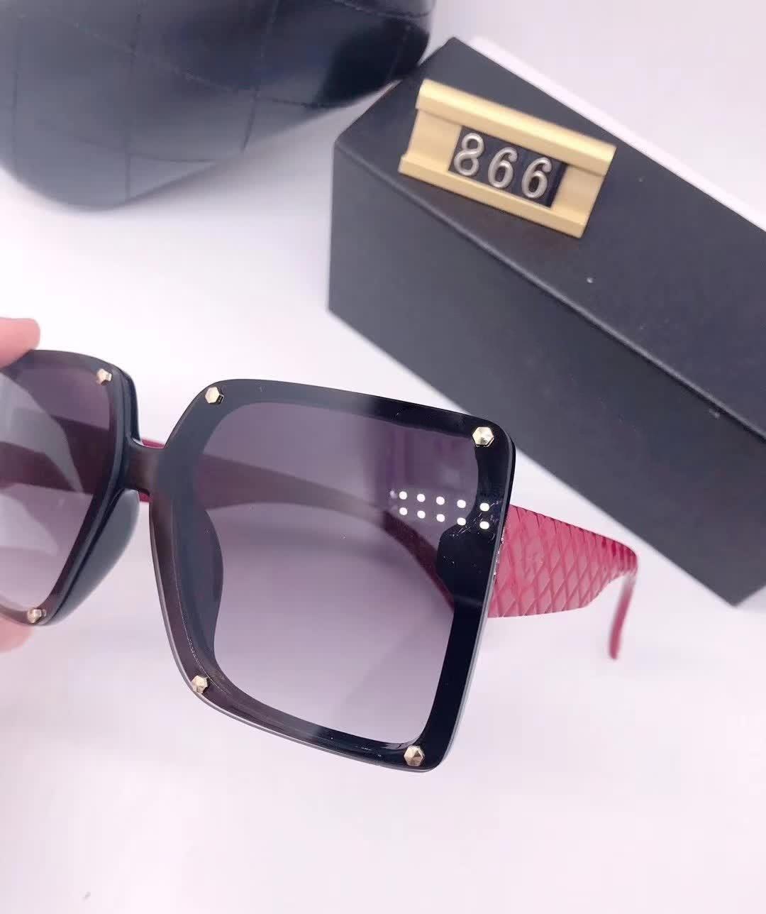 2020 جديد الفاخرة أعلى جودة الكلاسيكية مربع النظارات الشمسية مصمم ماركة أزياء رجالي إمرأة نظارات الشمس النظارات العدسات الزجاج المعدنية 866