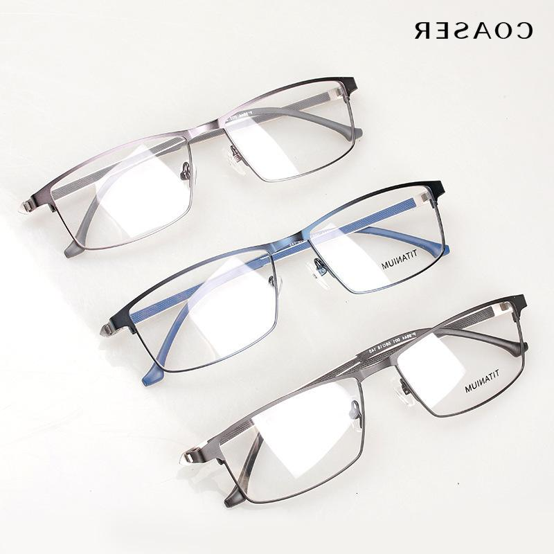 Pure Titanium P9844 Frame Spectacle Frame, High Glasses Legs, Big Wide Face, Men's, Adjustable