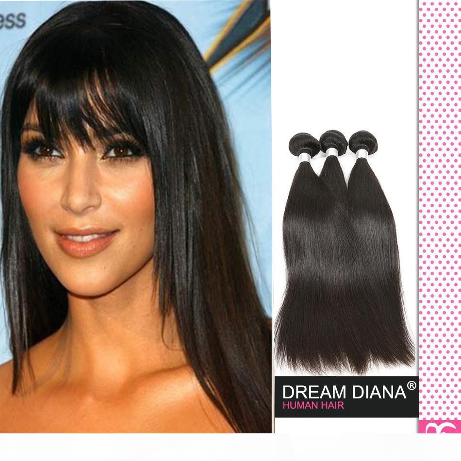 Cheveux vierges brésiliens droit non transformé 4pc lot 1b alimice cheveux brésilien tissage de cheveux Remy extensions de cheveux en gros binhuihumanhair