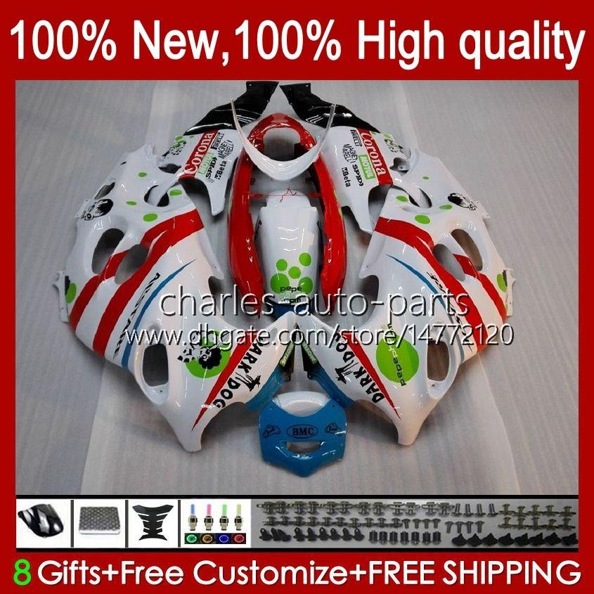 Kropp för Suzuki Katana GSX600F GSXF600 GSXF750 GSXF 600 750 CC 98 99 00 01 02 29NO.53 600cc 750cc GSX750F GSXF-600 GSXF-750 1998 1999 2000 2001 2002 Fairing White Glossy