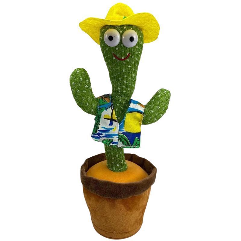 55% di sconto Dancing Talking Singing Cactus Peluche Peluche Peluche Elettronica con canzone in vaso in vaso Giocattoli educativi per bambini divertenti