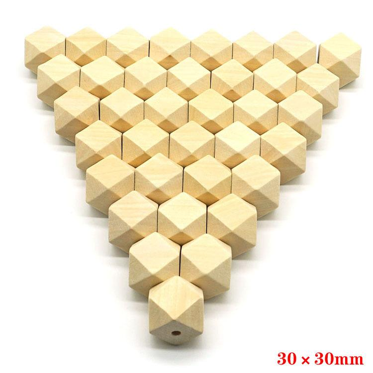 wood spacer beads natural unfinished geometric jewelry DIY wooden necklace making findings 100pcs/lot 10-20mm
