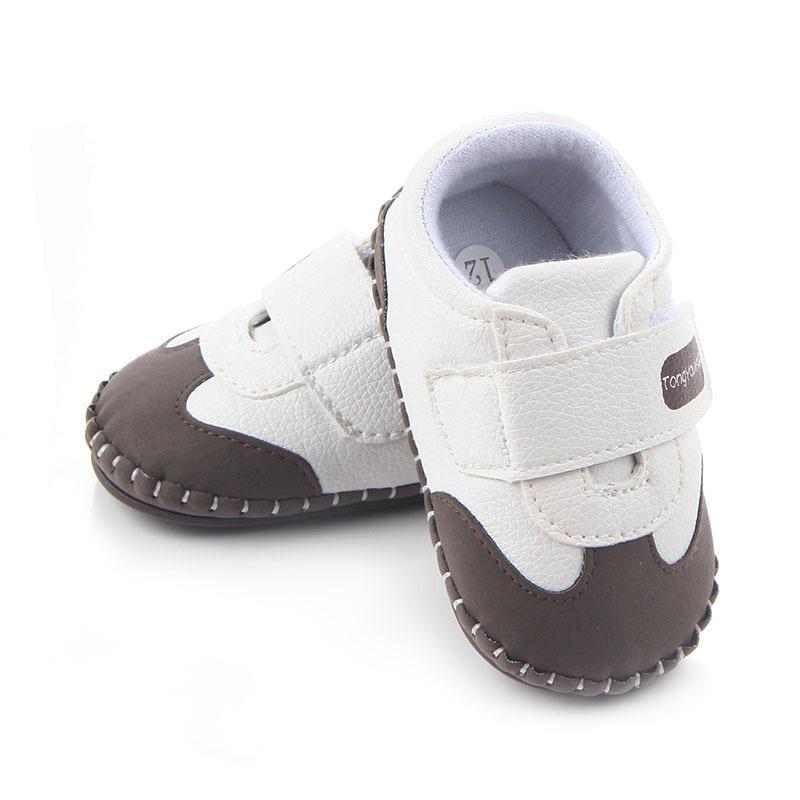 الوليد الطفل أحذية جلدية بوي فتاة أحذية متعدد الألوان طفل المطاط وحيد المضادة للانزلاق أول مشوا الخفاف
