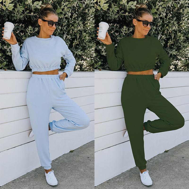 Women's Two Piece Pants Pencil Women Sets Clothes Outfit Set Fall Womens Fashion Flare Summer Woman Fitness Sports Breves 2 8U7U