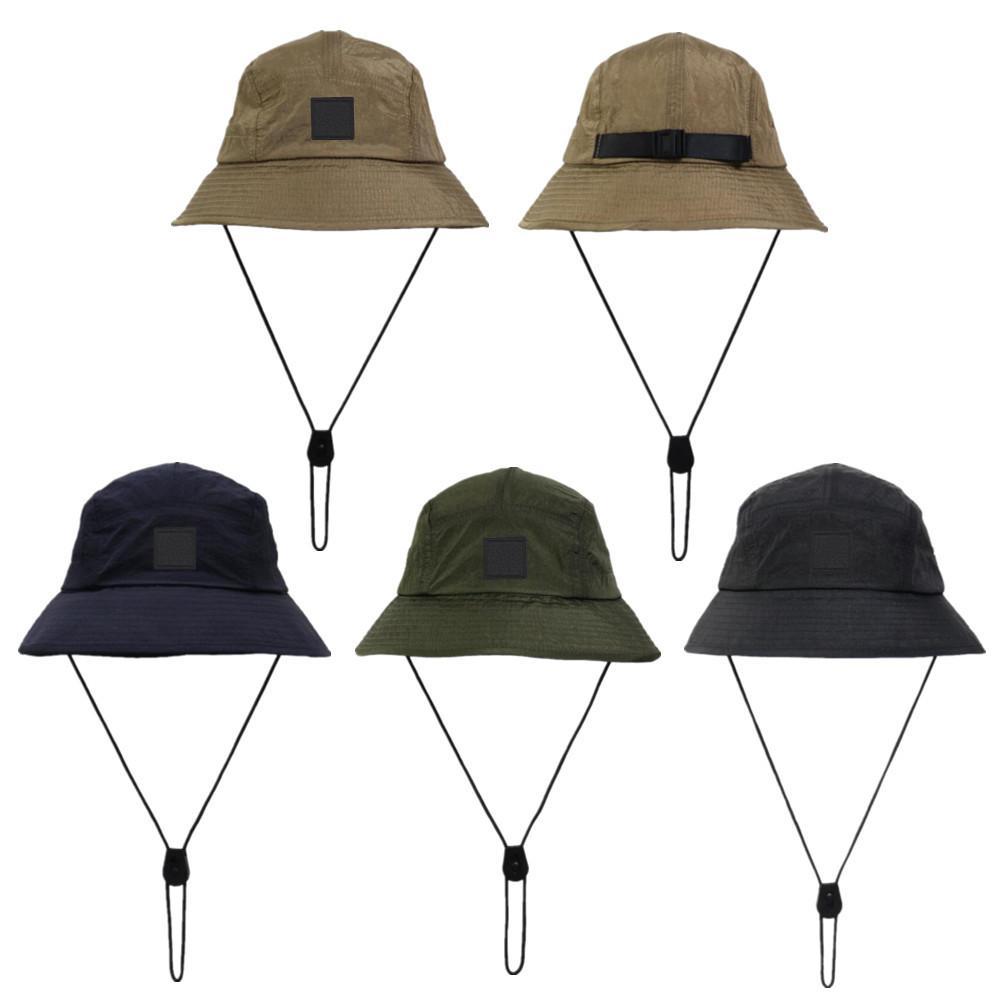 Новый стиль ведро шляпа складные рыболов шляпы Unisex открытый Sunhat Hiking скалолазание охотничьи пляжные рыболовные шапки регулируемые мужчины рисуют скопление струны