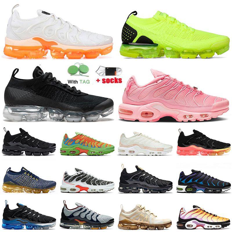 Nike Air max vapormax plus utility fly knit Hornets Almofadas Mens Formadores Calçados Femininos Grape Sliver Triplo Preto White Shark disso Womens Sports Sneakers