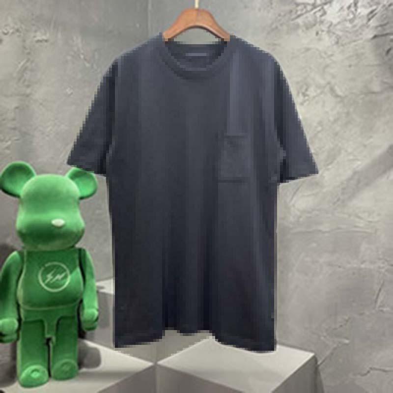 Mens Designer Primavera Estate Doppia Jacquard Lettere Tee T Shirt Fashion Hoodies Uomo Donna Casual Cotton Baseball T-shirt Nero