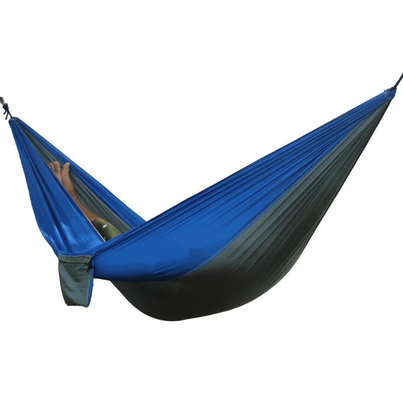 Hamac extérieur portable 2 personne jardin sport sport loisirs camping randonnée kits de voyage suspendus hamacs hangmat pour jouer ood5005
