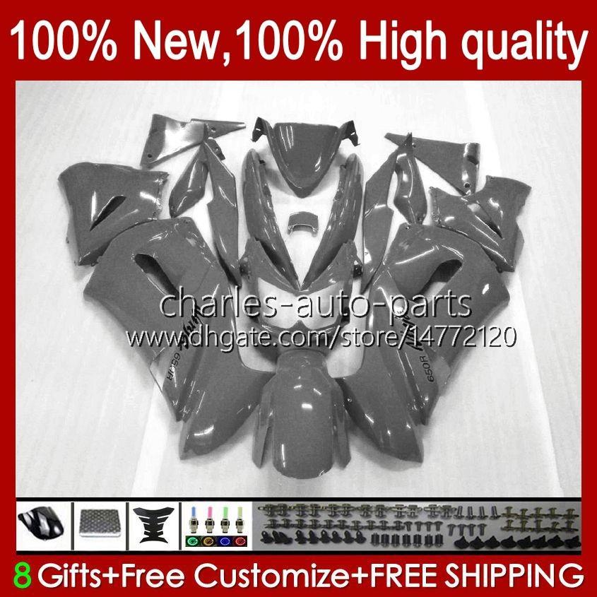 Kit carenatura per Kawasaki Glossy Grey New Ninja 650R ER 6F ER 6 F ER6F-650R 29HC.92 ER6 F 650 R ER6F 06 07 08 ER-6F 2006 2007 2008 Corpo completo