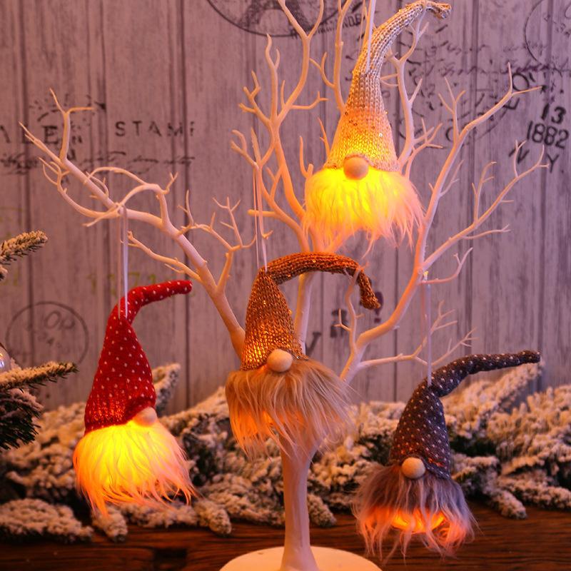 Noel süs ağacı dekorasyon kolye gece lambası parlayan duvar asılı tatil süslemeleri parti malzemeleri