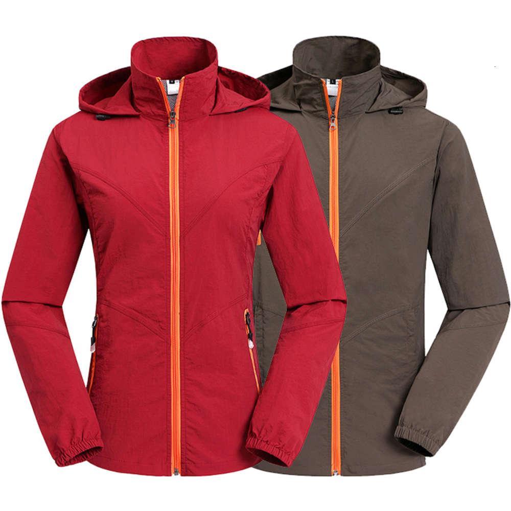 Women outdoor Quick-drying jackets sets coats female Spring summer UV Windbreaker coat Men Camping Hiking softsell jacket