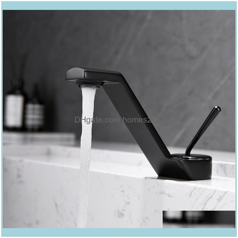 Bathroom Faucets, Showers As Home & Gardethroom Sink Faucets Basin Faucet Black Brass Mixer Tap Brushed Gold/Rose Gold/Chrome Wash And Cold