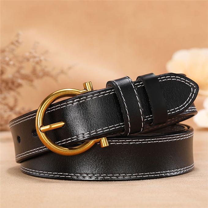 Designer cinture 20 Style Lady Fashion Belt Donne 2.8cm Big Fibbia Cintura in pelle Gold Fibbia Fashion Designer Genuine Cinture