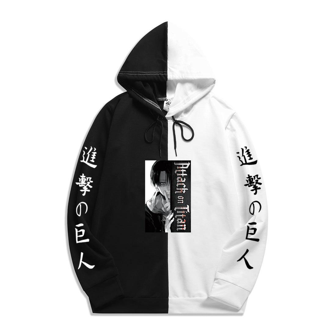 2021 Yeni Levi Ackerman Grafik Baskı Titan Hoodie Saldırısı Sharingan Olor Hoodies Kazak Sweatshirt Harajuku İnce Giyim Vzxu