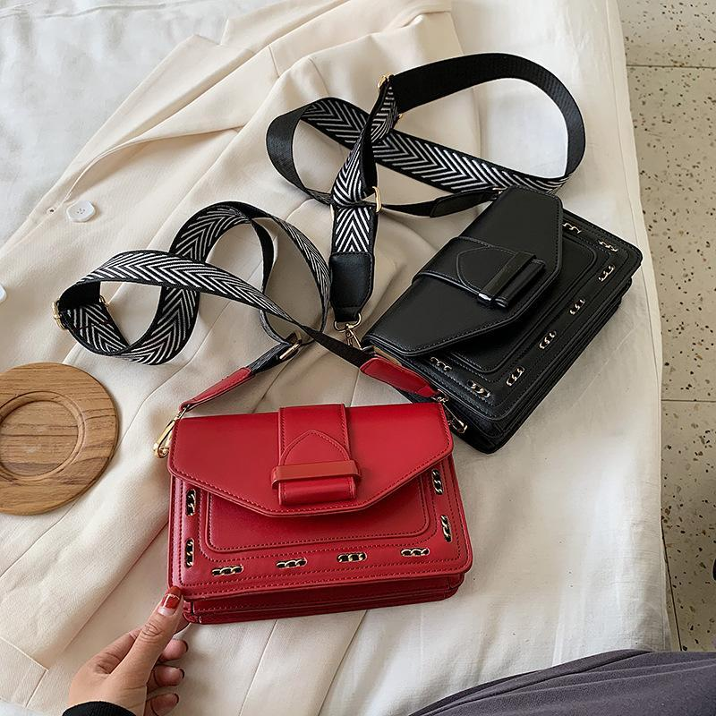 Moda de lujo pequeño bolso para mujeres 2021 PU bolso de hombro Pure Color Bolsos Crossbody Womens Little Messenger Bolsa