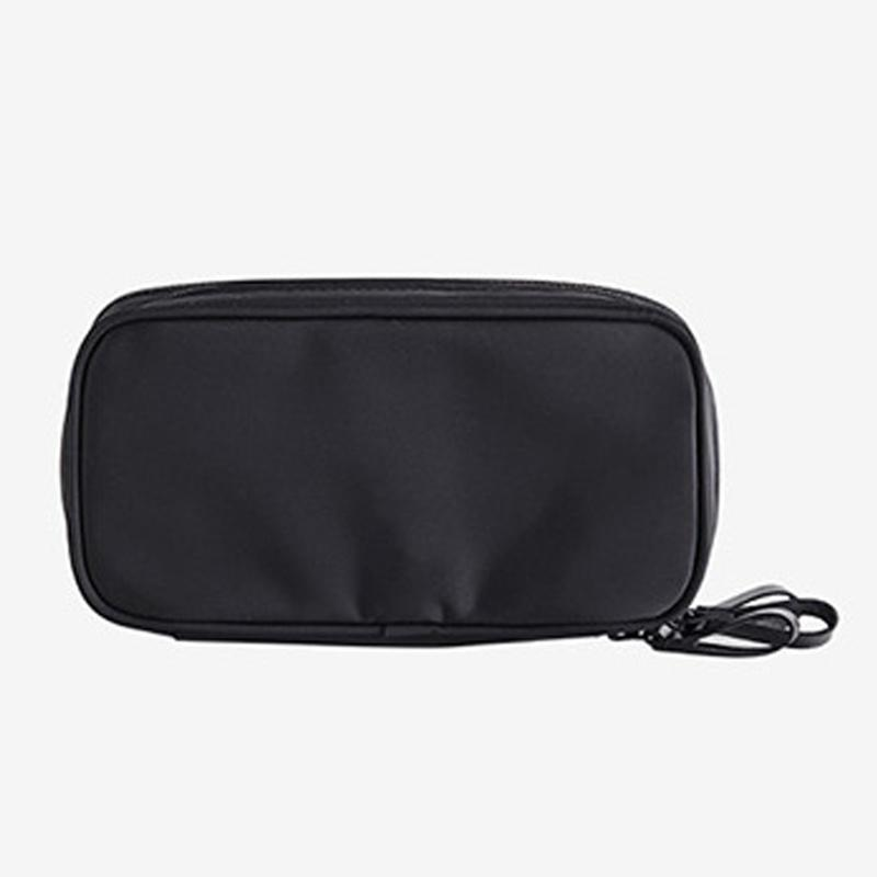 Lipsticks Nylon Double Sides Storage Toothbrush Practical Zipper Closure Washing Travel Portable Cosmetic Bag