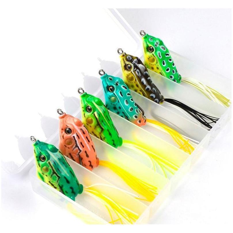 8 цвета моделирования Рэй лягушка искусственная приманка для пресноводных рыбной ловли 13,5 г 6 см топовые воды Итак, Jllzjd Sport77777