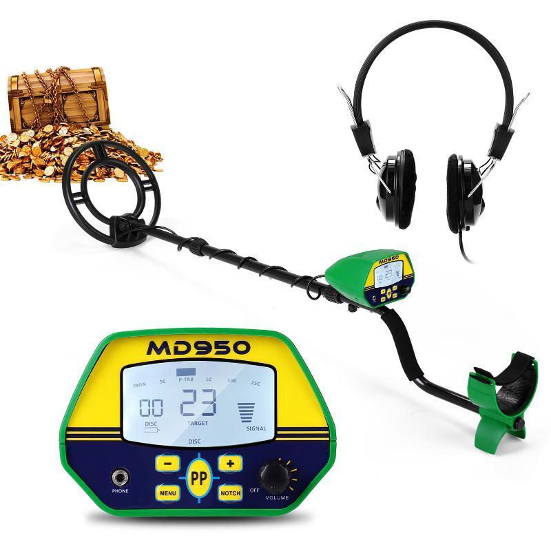 MD950 Metal Detector 10 pollici Impermeabile Ricerca impermeabile Coil Display LCD Pinpointer Portatile Metal Detector ad alta sensibilità Regalo